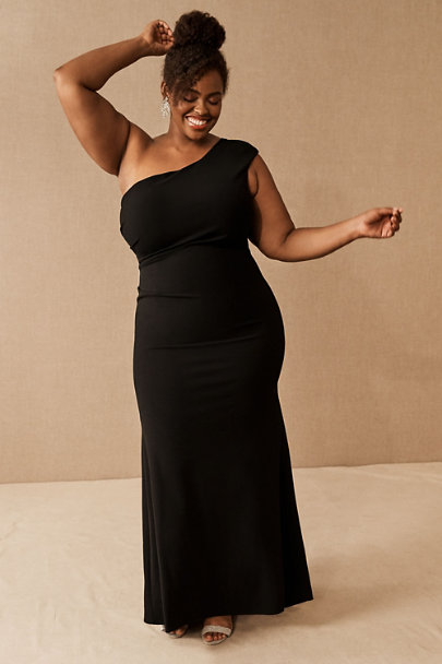 View larger image of Gerri One-Shoulder Crepe Dress