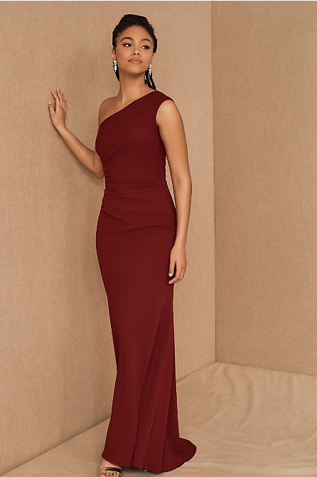 Gerri One-Shoulder Crepe Dress
