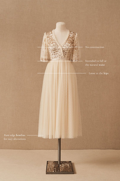 View larger image of Needle & Thread Patchwork Sequin Dress