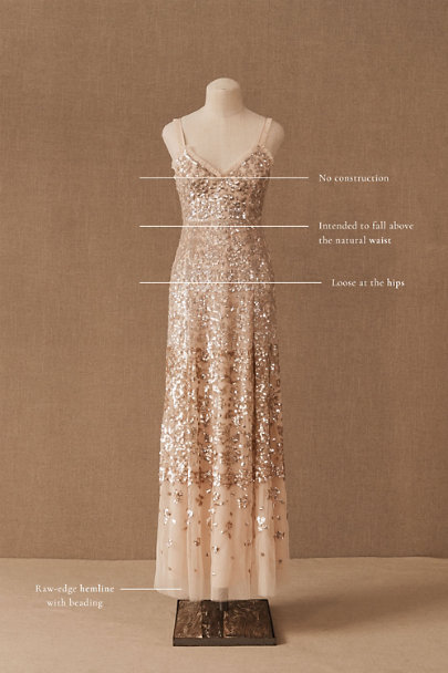 View larger image of Needle & Thread Patchwork Sequin Cami Gown