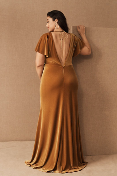 View larger image of Jenny Yoo Ellis Velvet Open Back Dress