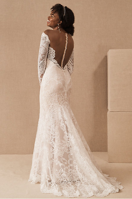 Backless Wedding Dresses Open Back Gowns Bhldn