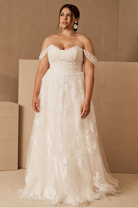 Plus Size Boho Wedding Dresses Gowns Bhldn