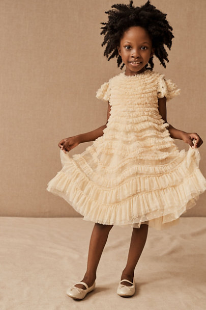 View larger image of Needle & Thread Wild Rose Ruffle Kids Dress