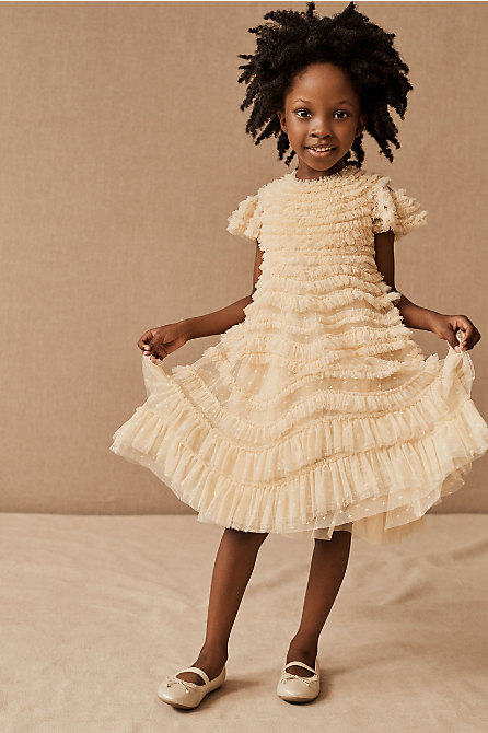 Needle & Thread Wild Rose Ruffle Kids Dress