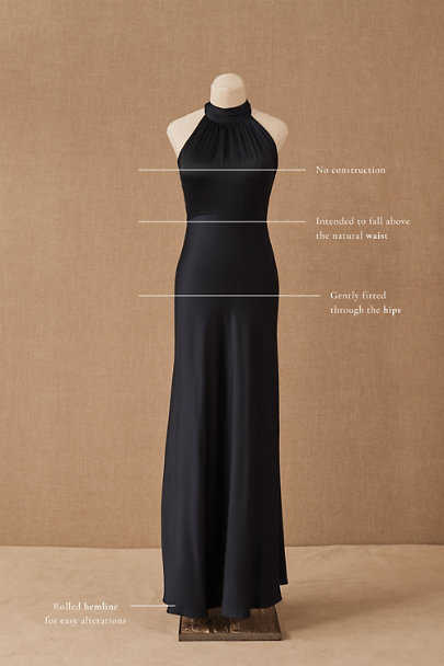 View larger image of Cortland High Neck Satin Dress
