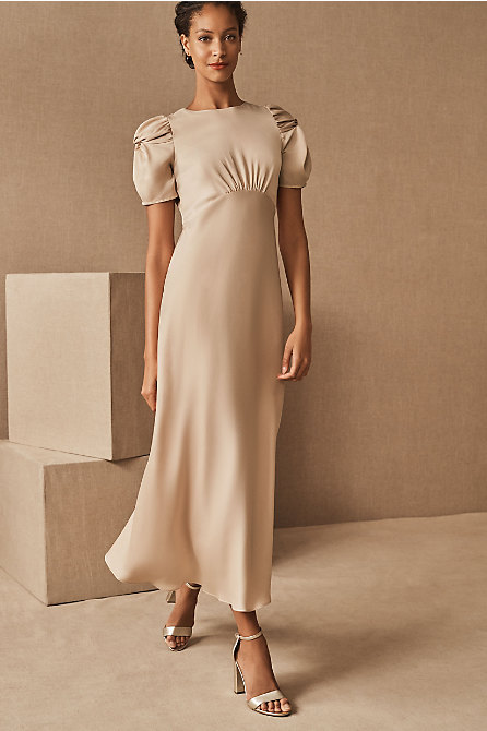 Leyden Satin Midi Dress