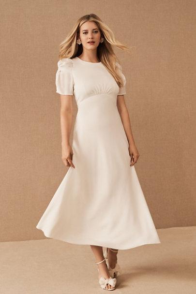 1930s Style Wedding Dresses | Art Deco Wedding Dress BHLDN Leyden DressSize Guide Video $198.00 AT vintagedancer.com