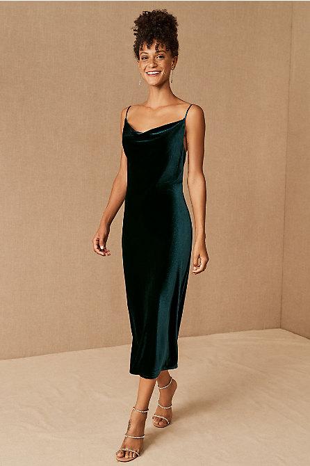 Jenny Yoo Bentley Velvet Midi Dress