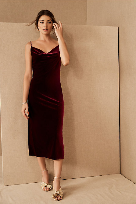 Jenny Yoo Bentley Velvet Midi Dress