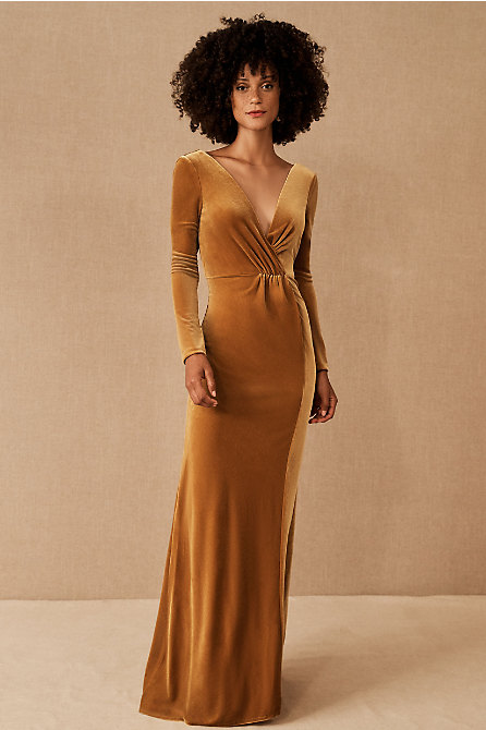 Jenny Yoo Ryland Velvet Maxi Dress