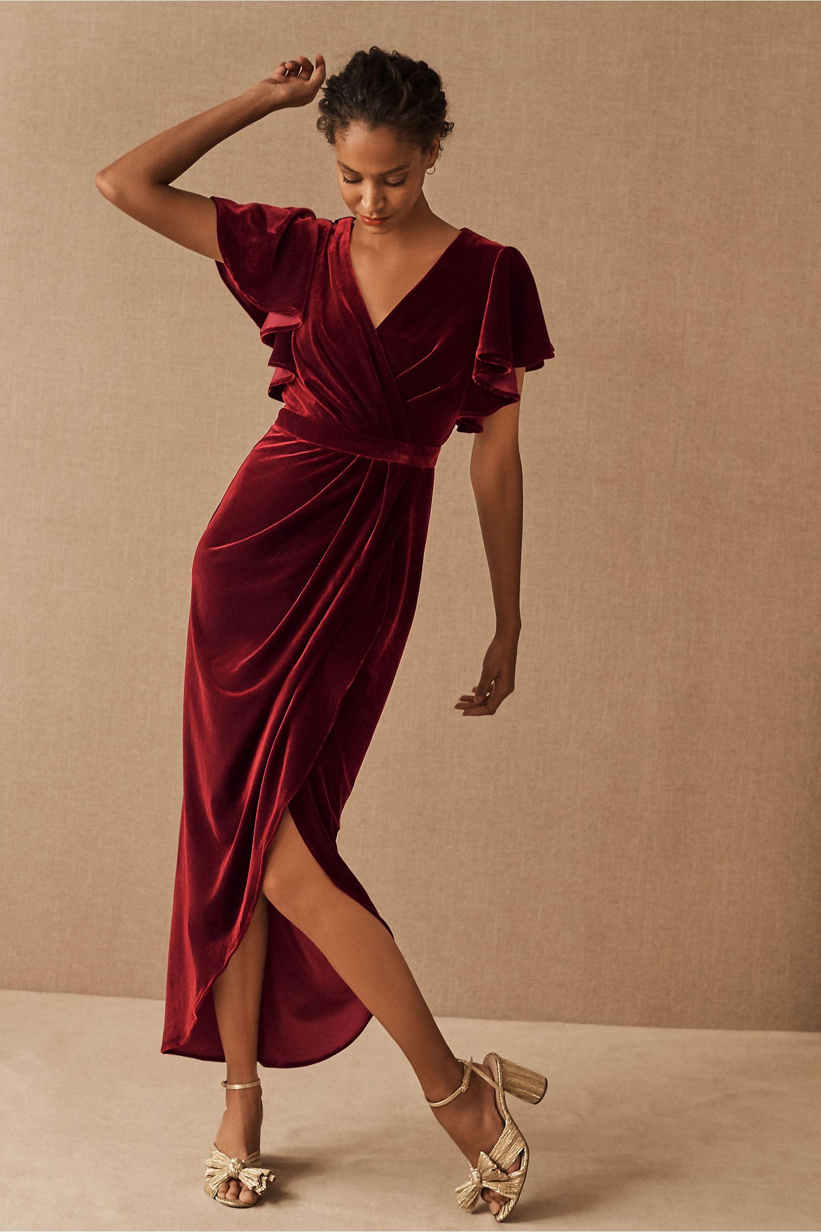 BHLDN Dover Velvet Dress