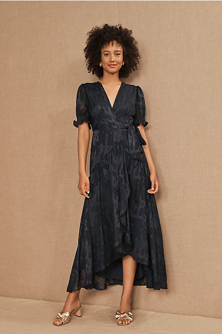 Biscayne Ruffle Wrap Dress