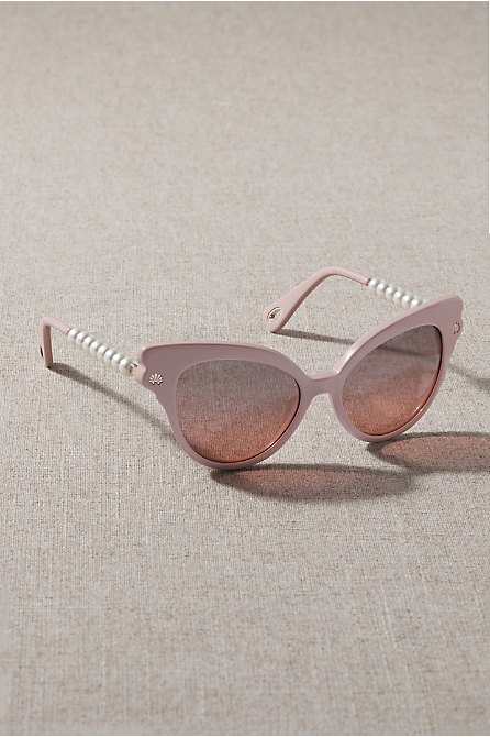 Lele Sadoughi Blush Chelsea Sunglasses