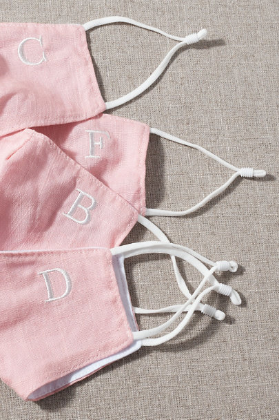 View larger image of Blush Monogram Reusable Face Mask