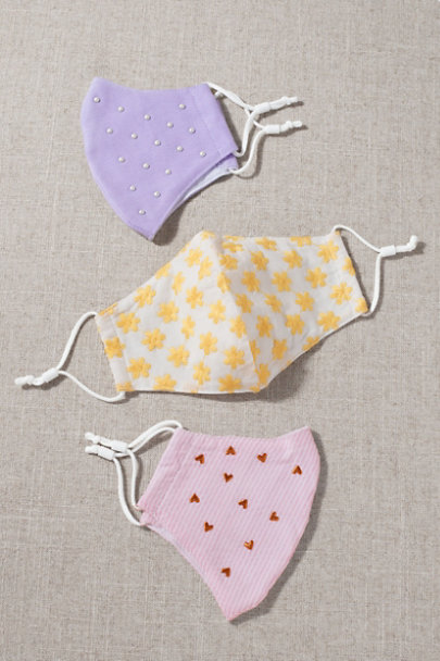 View larger image of Pastel Reusable Face Masks, Set of 3