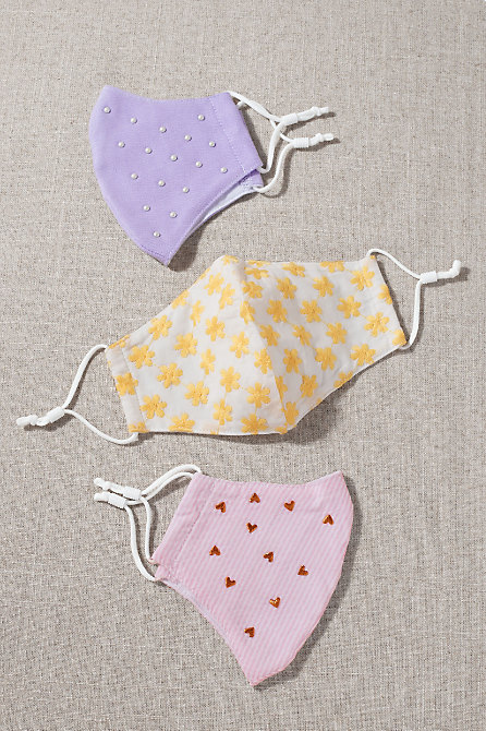 Pastel Reusable Face Masks, Set of 3