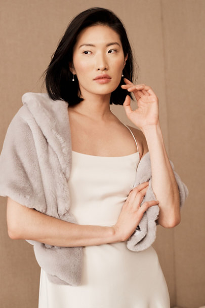 View larger image of BHLDN Maxime Faux Fur Wrap