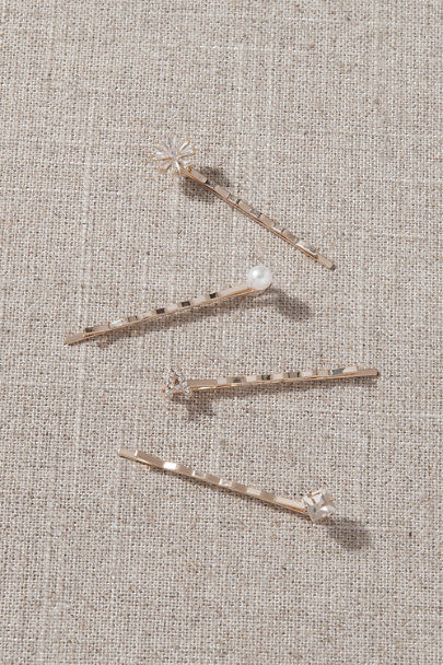 View larger image of Crystal Monogram Hair Pins
