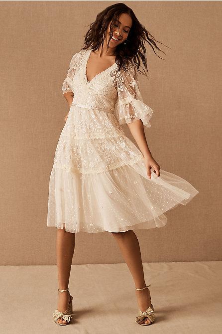 Needle & Thread Lottie Lace Midi Dress