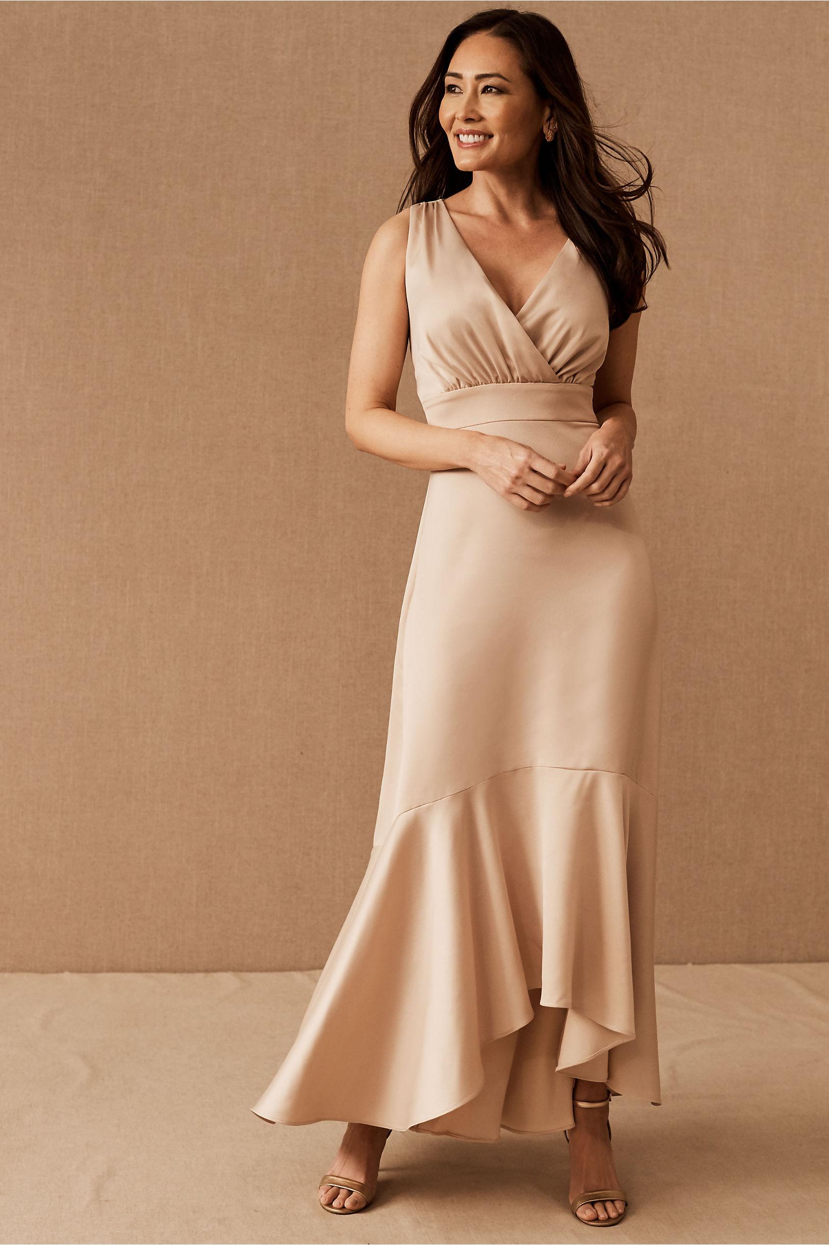 BHLDN Fairbanks Satin Dress