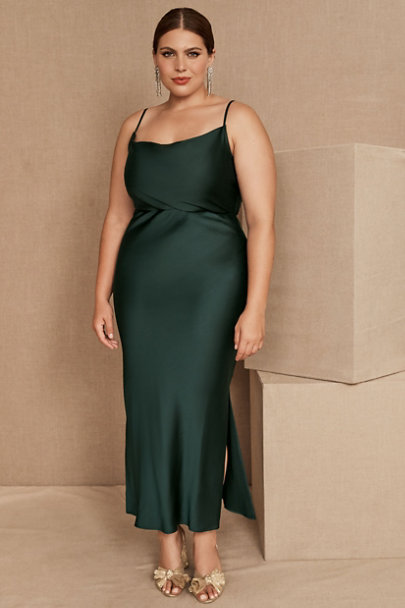 View larger image of Cali Satin Charmeuse Midi Dress