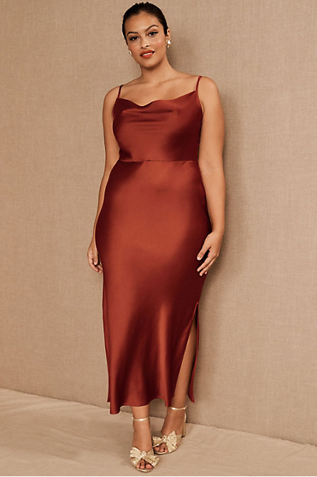 Cali Satin Midi Dress