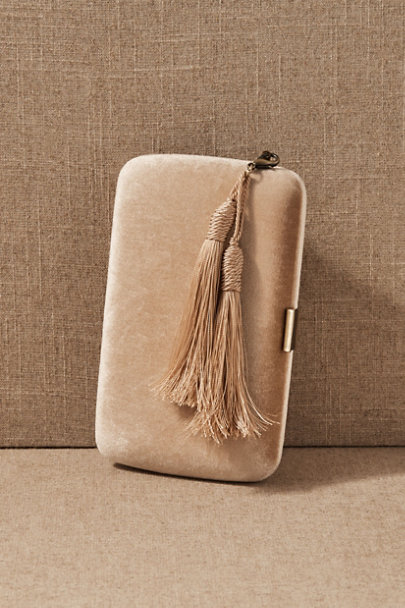 View larger image of Sintra Velvet Tassel Clutch