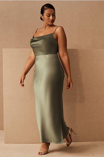 Cali Satin Charmeuse Midi Dress