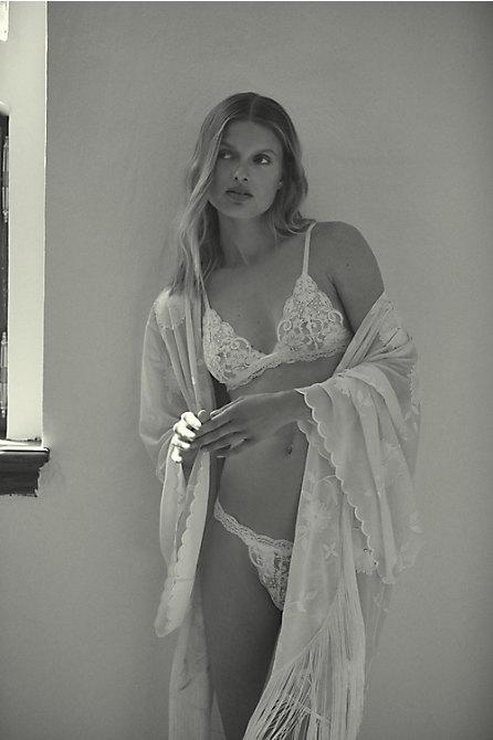 BHLDN Lilah Fringe Robe