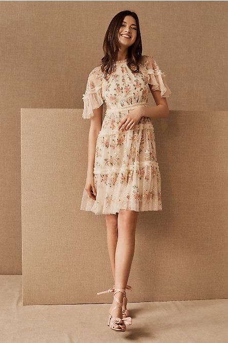 Needle & Thread Emma Ditsy Mini Dress