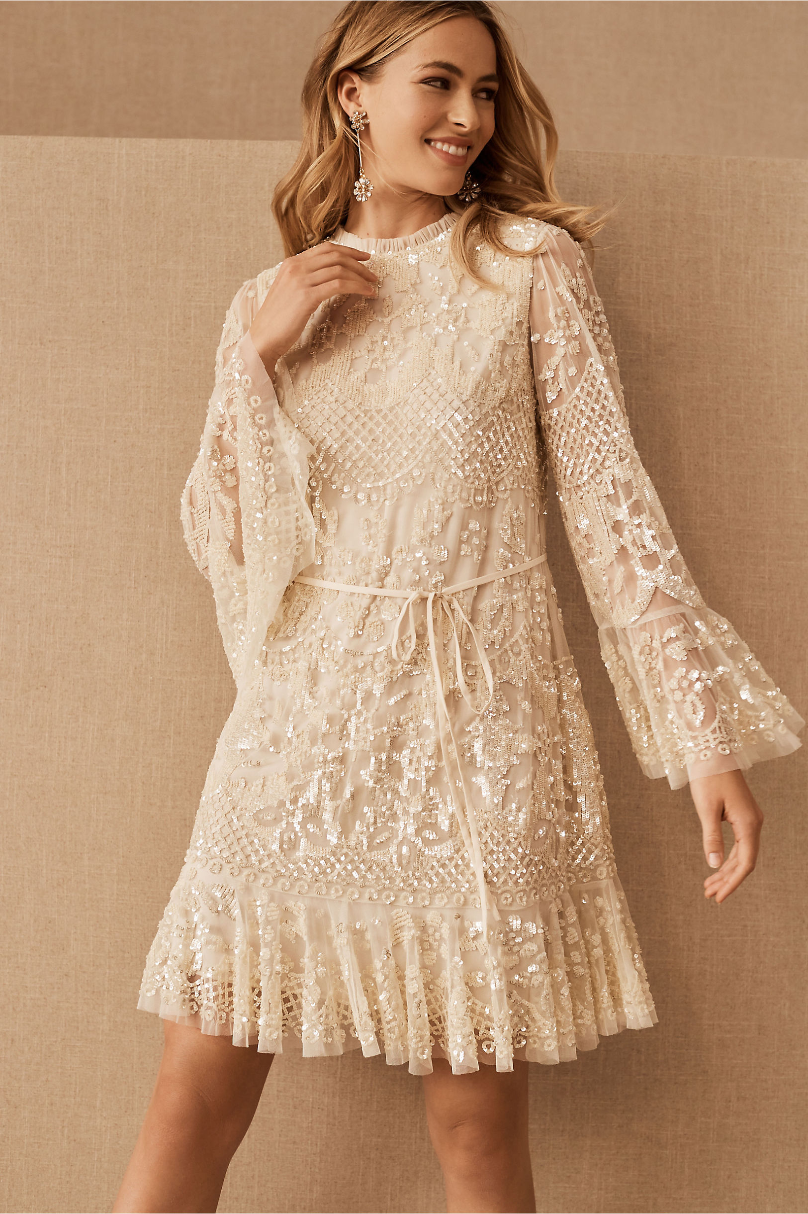 Needle & Thread Snowdrop Mini Dress