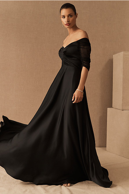 BHLDN Bowden Satin Dress