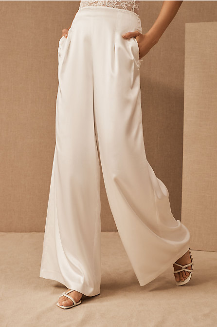 Sau Lee Elsie Wide-Leg Pants