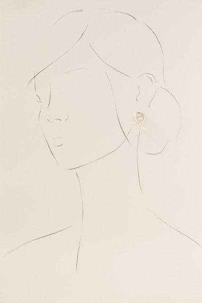 View larger image of Samira White Topaz & 14k Gold Earrings