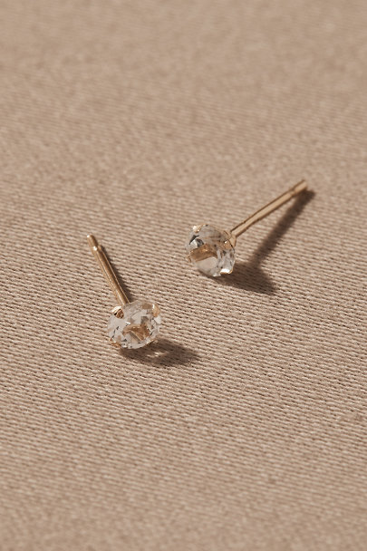 View larger image of Cyndi White Topaz & 14k Gold Earrings