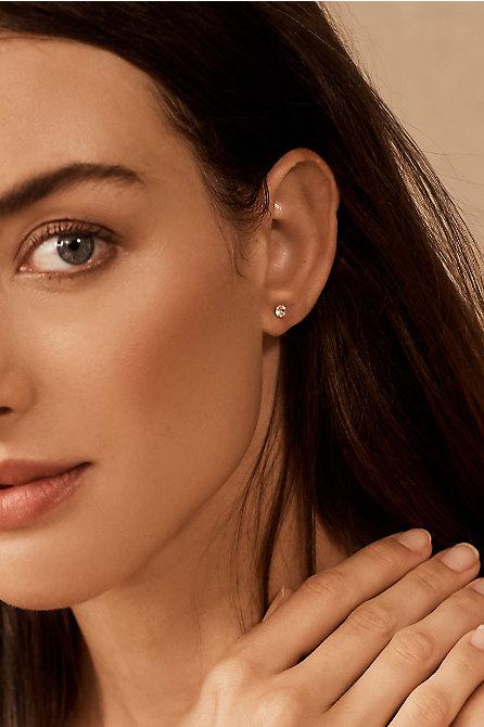 Vala White Topaz & 14k Gold Earrings