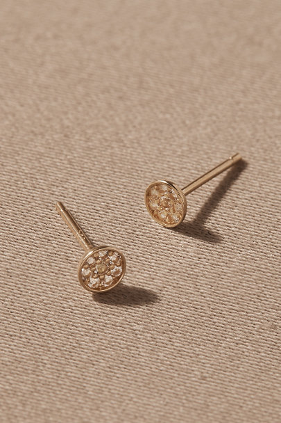 View larger image of Ritchie White Topaz & 14k Gold Earrings