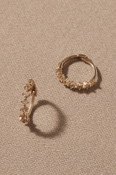 View larger image of Brandt White Topaz & 14k Gold Earrings