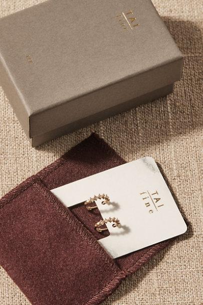 View larger image of Brandt White Topaz & 14k Gold Earrings