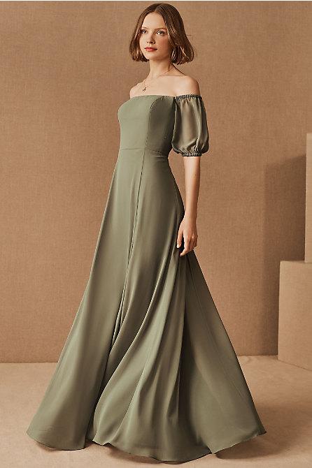 Jenny Yoo Jamie Luxe Chiffon Dress