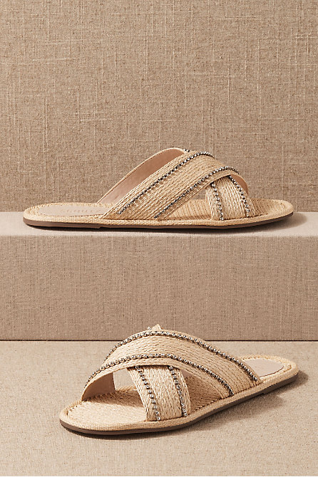 Schutz Rori Raffia Sandals