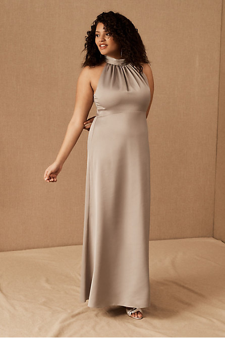 Esme High Neck Satin Dress
