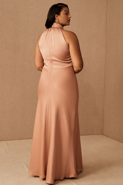 View larger image of Esme High Neck Satin Dress