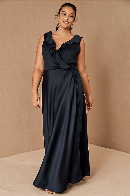 Tansy Satin Maxi Dress