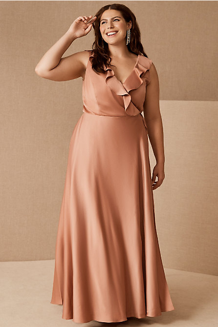Tansy Satin Charmeuse Maxi Dress