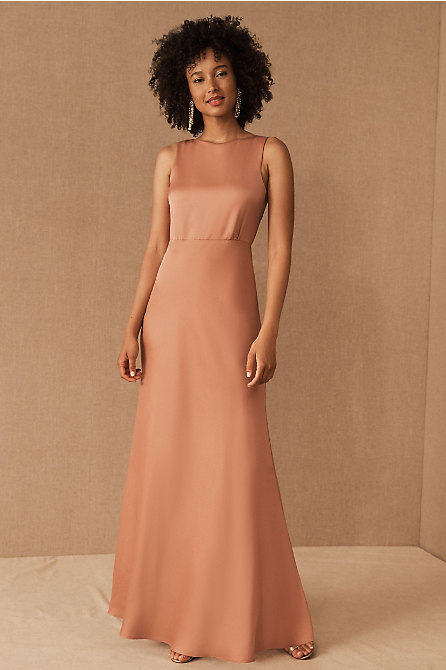 Beckett Satin Charmeuse Maxi Dress