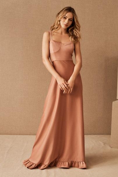 View larger image of Tara Satin Ruffle Dress