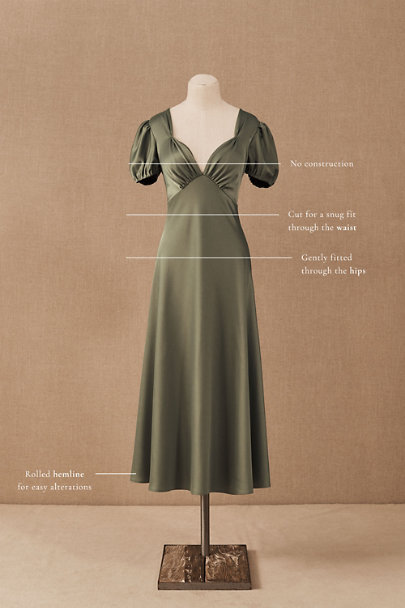 View larger image of Shelley Satin Midi Dress