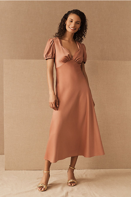 Shelley Satin Midi Dress